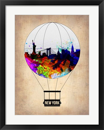 Framed New York Air Balloon Print