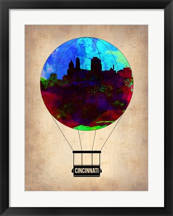 Framed Cincinnati  Air Balloon Print