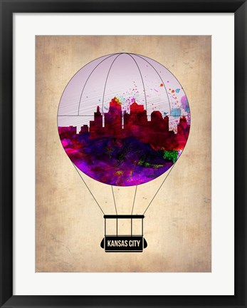 Framed Kansas Air Balloon Print