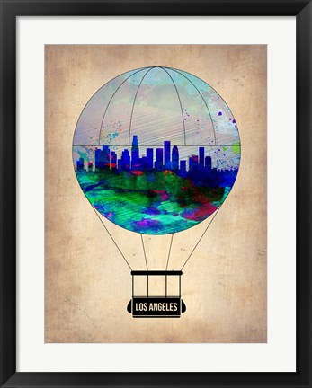 Framed Los Angeles Air Balloon Print