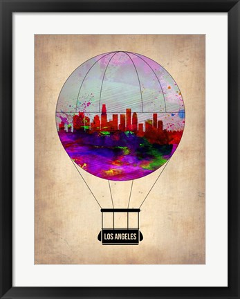 Framed Los Angeles Air Balloon 2 Print