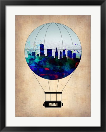 Framed Miami Air Balloon Print
