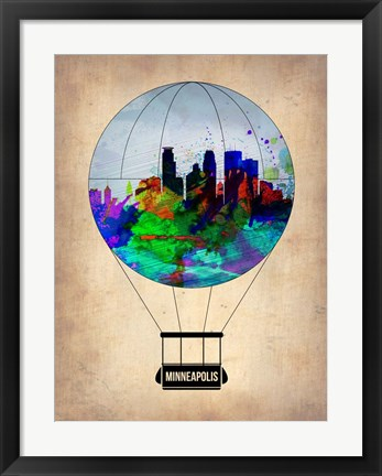 Framed Minneapolis Air Balloon Print