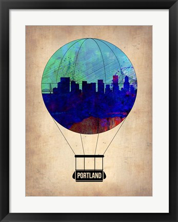Framed Portland Air Balloon Print