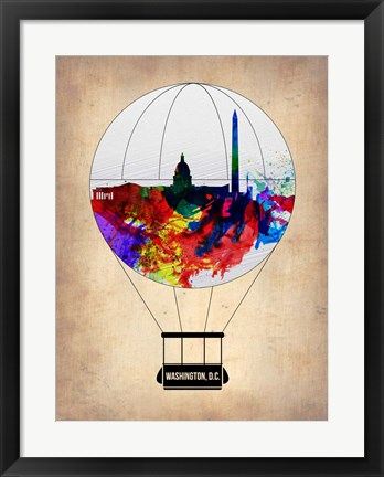 Framed Washington, D.C. Air Balloon Print