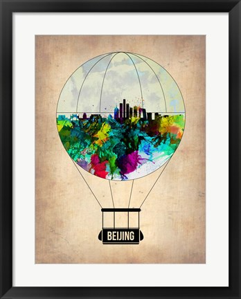 Framed Beijing Air Balloon Print