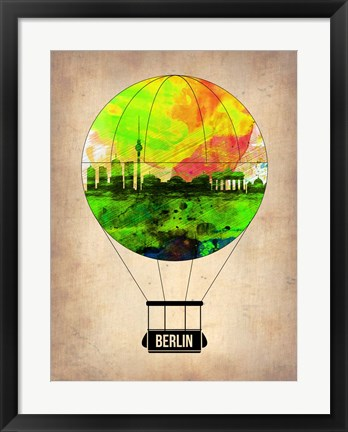 Framed Berlin Air Balloon Print