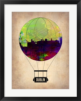 Framed Dublin Air Balloon Print