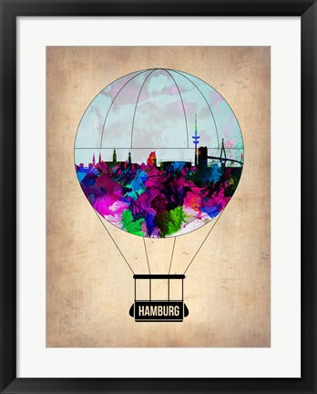 Framed Hamburg Air Balloon Print