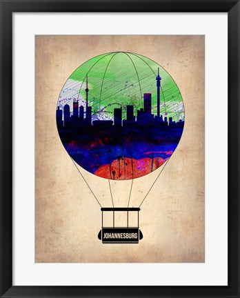 Framed Johannesburg Air Balloon Print