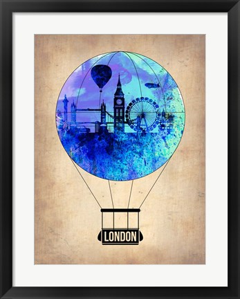 Framed London Air Balloon Print