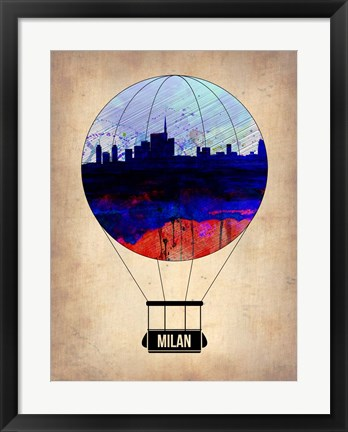 Framed Milan Air Balloon Print