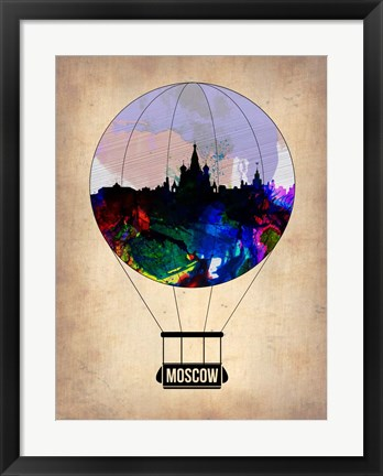 Framed Moscow Air Balloon Print