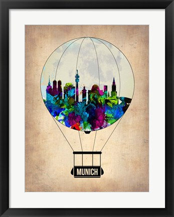 Framed Munich Air Balloon Print