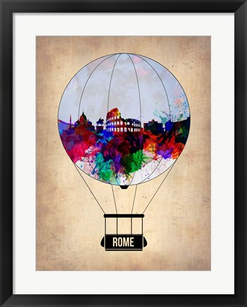 Framed Rome Air Balloon Print