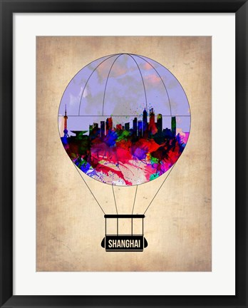 Framed Shanghai Air Balloon Print