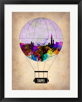 Framed Taipei Air Balloon Print