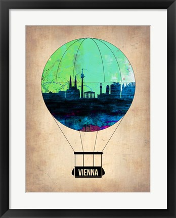 Framed Vienna Air Balloon Print