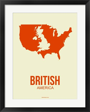 Framed British America 1 Print