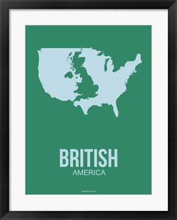 Framed British America 3 Print