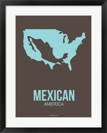 Framed Mexican America 2 Print