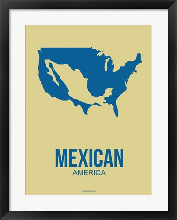 Framed Mexican America 3 Print