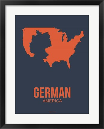 Framed German America 2 Print