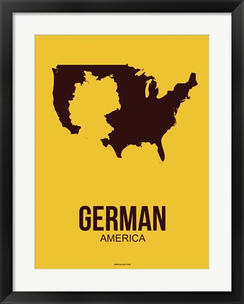 Framed German America 3 Print
