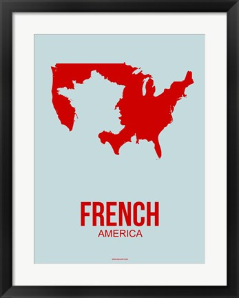 Framed French America 1 Print