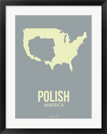 Framed Polish America 1 Print