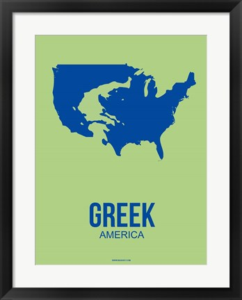 Framed Greek America 2 Print