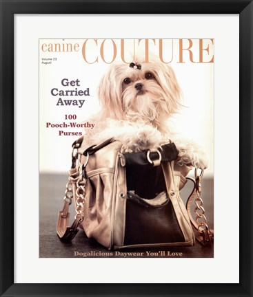 Framed Canine Couture-Carrie Away Print
