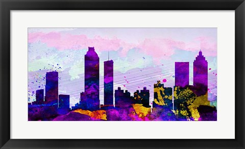 Framed Atlanta City Skyline Print