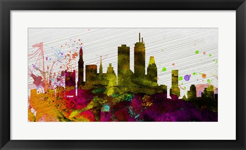 Framed Boston City Skyline Print
