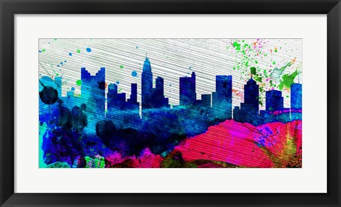 Framed Columbus City Skyline Print