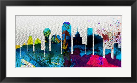 Framed Dallas City Skyline Print