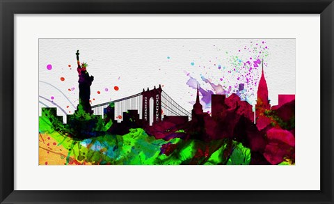Framed New York City Skyline 2 Print