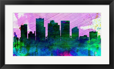 Framed Phoenix City Skyline Print