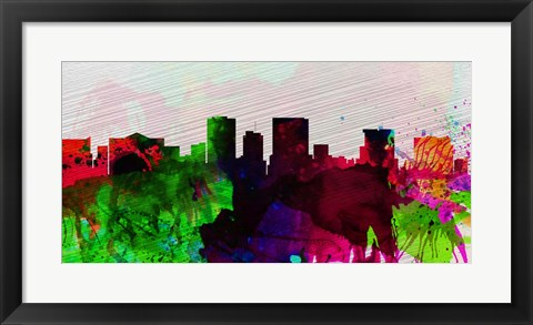 Framed El Paseo City Skyline Print