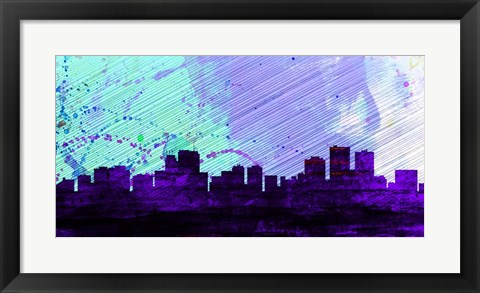 Framed Anchorage City Skyline Print