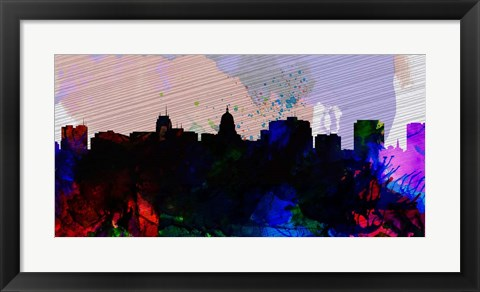 Framed Madison City Skyline Print