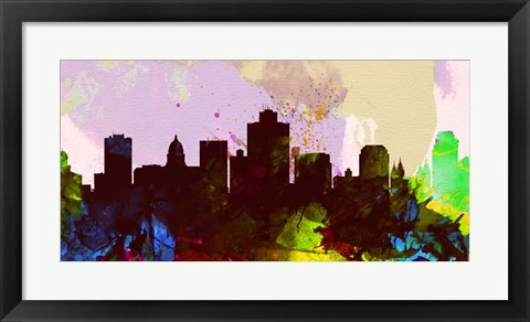 Framed Salt Lake City Skyline Print
