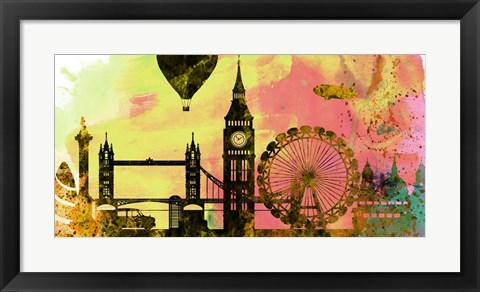 Framed London City Skyline Print