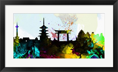 Framed Kyoto City Skyline Print