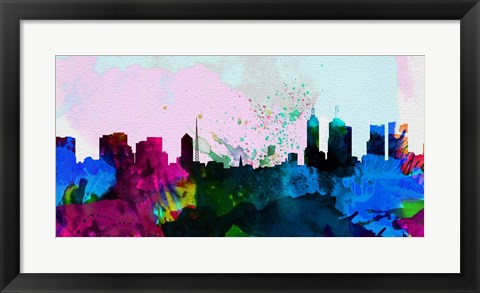 Framed Melbourne City Skyline Print