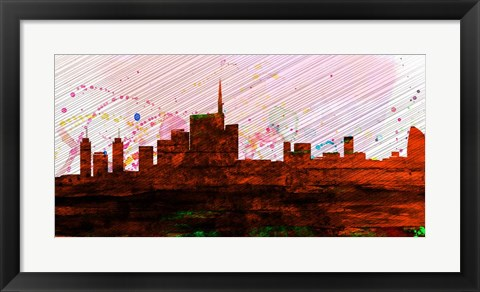 Framed Milan City Skyline Print