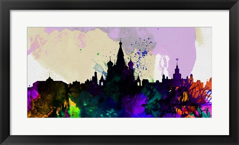 Framed Moscow City Skyline Print