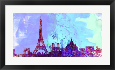 Framed Paris City Skyline Print