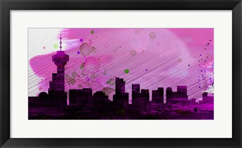 Framed Vancouver City Skyline Print