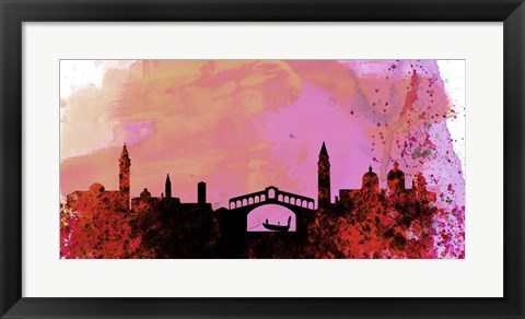 Framed Venice City Skyline Print